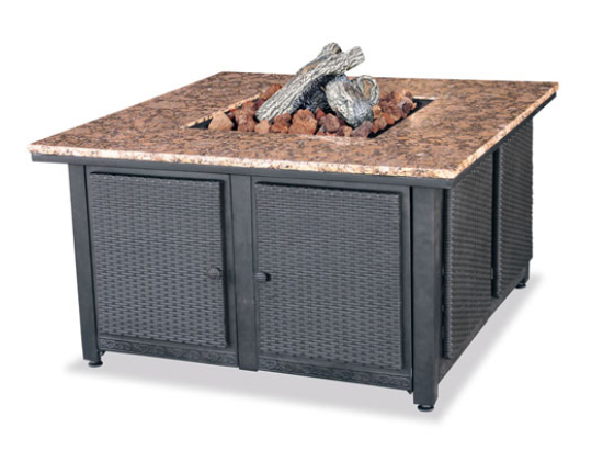 Uniflame GAD1200B Outdoor Firebowl with Granite Mantel for LP Gas