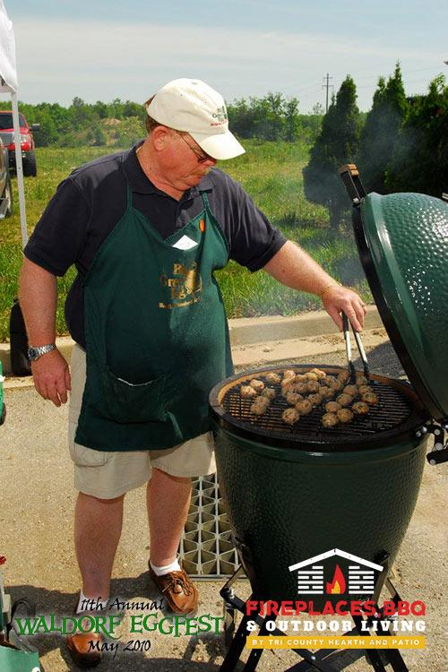 big green egg cooking