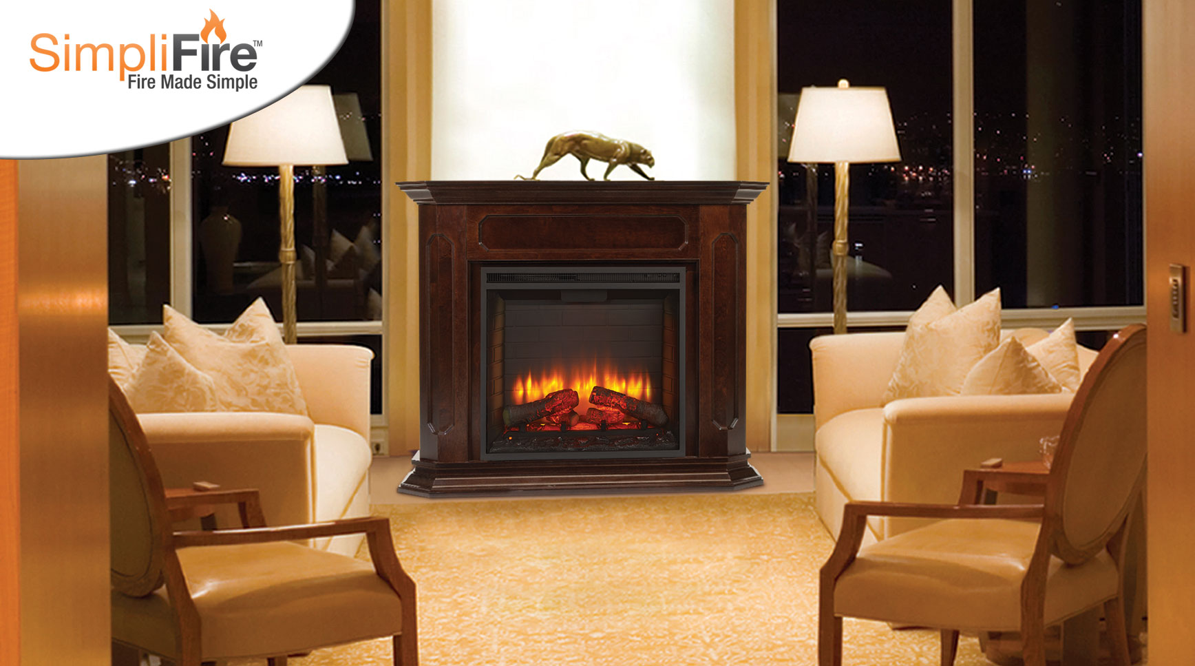 direct clean log face area with a of air onyx majestic sleek this plus robust wide vent modern by complete an fireplaces sophistication premium viewing set styling fireplace provides