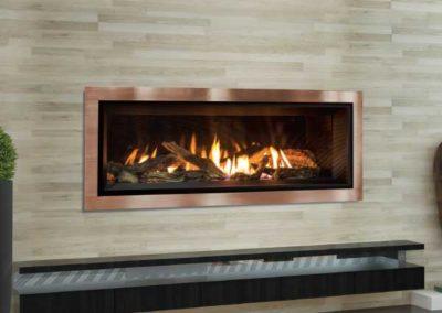 modern floating fireplace