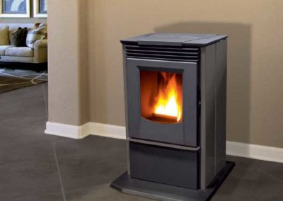 silver contemporary stoves