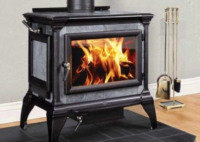 black and gray stone stove