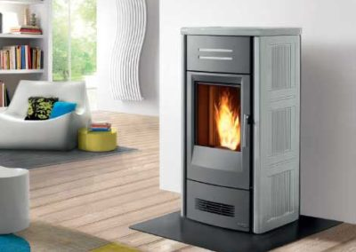 silver contemporary stove