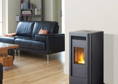 black contemporary stove