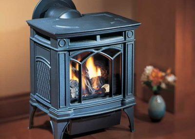 black blue stove