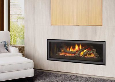 modern floating fireplace