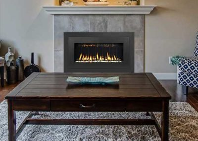 fireplace insert with tile surround