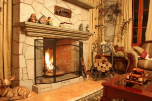 homely fireplace