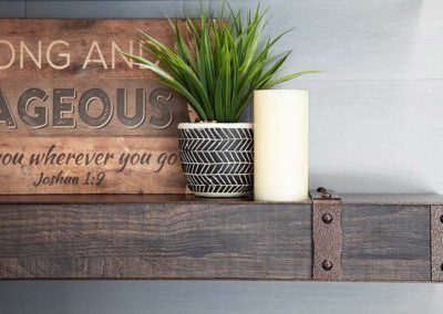 Stoll Non-Combustible Faux Wood Shelf Mantel