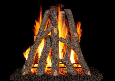Peterson Vented Gas Log Rural Oak